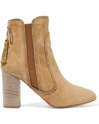 Aquazzura - Tristan Fringed Suede Ankle Boots - Lyst
