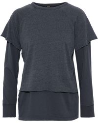Monrow - Layered Jersey Top - Lyst