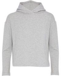 Enza Costa - Jersey Hooded Sweatshirt - Lyst