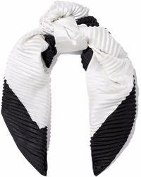 Valentino - Two-tone Piqué Silk Scarf - Lyst