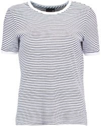 AG Jeans - Striped Cotton-jersey T-shirt - Lyst