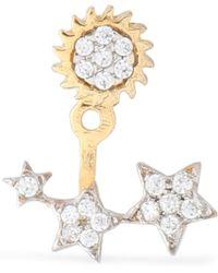 Aamaya By Priyanka - Gold-plated Crystal Earring - Lyst