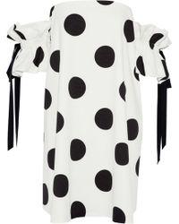 Sachin & Babi - Mayya Off-the-shoulder Polka-dot Faille Mini Dress - Lyst