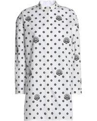 Victoria, Victoria Beckham - Printed Cotton-poplin Shirt - Lyst