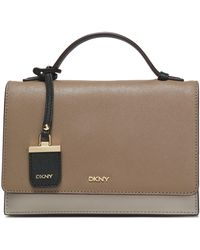 DKNY - Color-block Textured-leather Shoulder Bag - Lyst