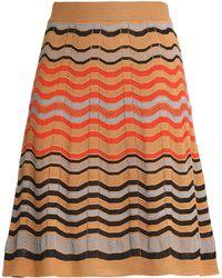 M Missoni - Crochet-knit Mini Skirt - Lyst