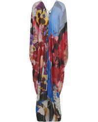 Roberto Cavalli - Cutout Floral-print Silk Crepe De Chine Kaftan - Lyst