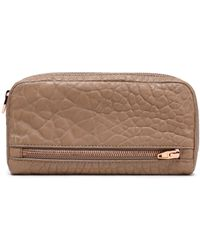 Alexander Wang - Textured-leather Wallet Light Brown - Lyst