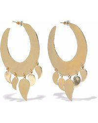Kenneth Jay Lane - Hammered Gold-tone Hoop Earrings - Lyst