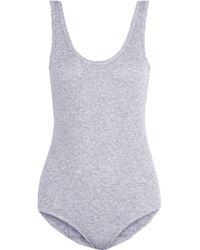 Petit Bateau - Ribbed Cotton Bodysuit - Lyst