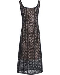 Stella McCartney - Cotton-blend Lace Midi Dress - Lyst
