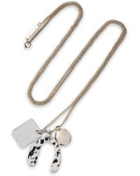Proenza Schouler Hammered Gold And Silver-tone Necklace Silver