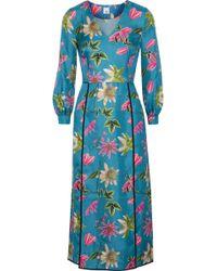 Iris & Ink - Brooke Floral-print Silk-satin Twill Midi Dress - Lyst