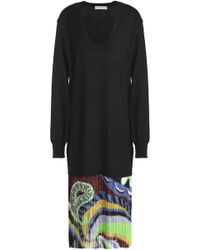 Emilio Pucci - Printed Fringed Wool-crepe Skirt - Lyst