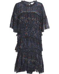 Velvet By Graham & Spencer - Tiered Chiffon Mini Dress - Lyst