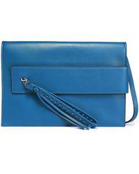 Elena Ghisellini - Tasselled Leather Shoulder Bag Cobalt Blue - Lyst