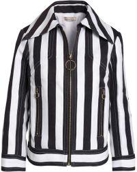 Nina Ricci - Striped Cotton And Silk-blend Twill Jacket - Lyst