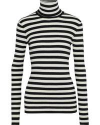 Maje - Moleton Striped Intarsia-knit Turtleneck Top - Lyst