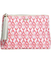 Melissa Odabash - Tasselled Printed Canvas Pouch - Lyst