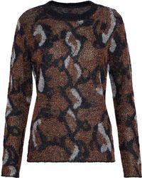 By Malene Birger - Bioncy Metallic Intarsia-knit Sweater - Lyst