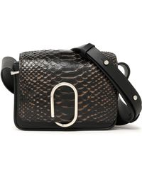 3.1 Phillip Lim - Panelled Python And Leather Shoulder Bag - Lyst