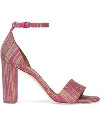 M Missoni - Metallic Crochet-knit Sandals - Lyst