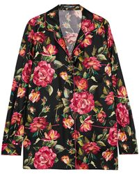 Dolce & Gabbana - Floral-print Silk-twill Shirt - Lyst