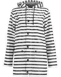 Petit Bateau - Striped Coated Shell Hooded Coat - Lyst