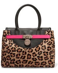 Hill & Friends - Happy Neon Leather-trimmed Leopard-print Calf Hair Tote Bag  - Lyst