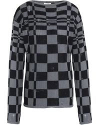 Marc Jacobs - Distressed Checked Wool And Cashmere-blend Sweater - Lyst