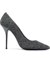 Casadei - Leather-trimmed Macramé Court Shoes - Lyst