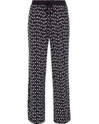 DKNY - Printed Stretch-modal Jersey Pajama Top - Lyst