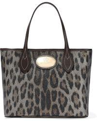 Roberto Cavalli - Metallic Leopard-print Textured-leather Tote Animal Print - Lyst