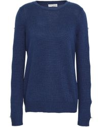 Sonia Rykiel - Button-detailed Silk And Cotton-blend Sweater - Lyst