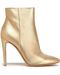 Gianvito Rossi - Metallic Leather Ankle Boots - Lyst