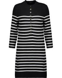 Maje - Striped Knitted Mini Dress - Lyst