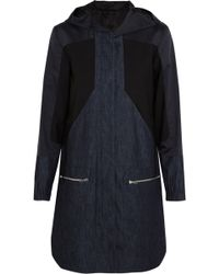 Tim Coppens - Denim, Cotton And Silk-blend And Stretch-wool Parka Mid Denim - Lyst