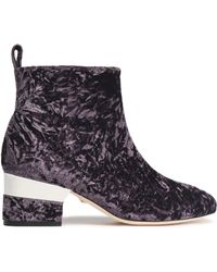 Isa Tapia - Crushed Velvet Ankle Boots - Lyst
