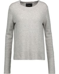 Maje Cashmere Sweater Light Gray in Gray | Lyst