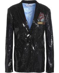 Marco De Vincenzo - Sequined Blazer W/ Pocket Patch - Lyst