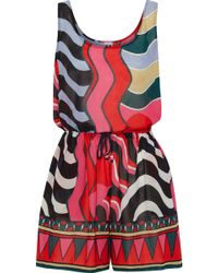 M Missoni - Printed Cotton-voile Coverup Set - Lyst