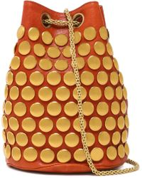 Jérôme Dreyfuss - Popeye Studded Leather Bucket Bag - Lyst