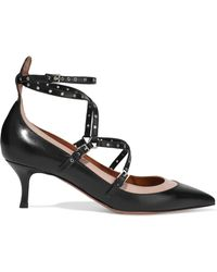 Valentino - Woman Love Latch Eyelet-embellished Leather Court Shoes Black - Lyst