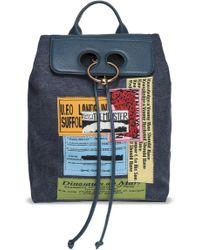 JW Anderson - Pierce Leather-paneled Appliquéd Canvas Backpack - Lyst
