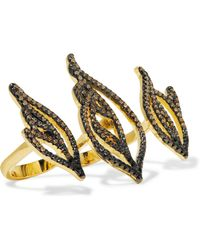 Noir Jewelry - Sparks Gold-tone Crystal Ring - Lyst