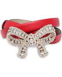 Valentino - Crystal-embellished Leather Belt - Lyst