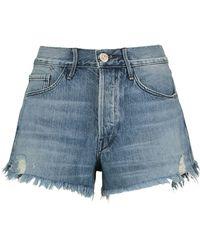 3x1 - Distressed Denim Shorts - Lyst
