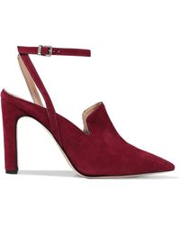 Iris & Ink - Alexis Suede Court Shoes - Lyst