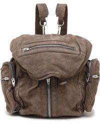 Alexander Wang - Zip-detailed Suede Backpack - Lyst