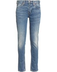 RE/DONE - Faded Low-rise Straight-leg Jeans - Lyst